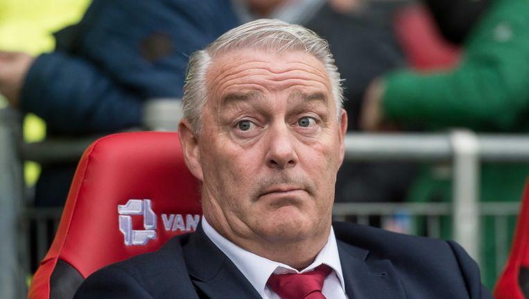 Hans de Koning tijdens zijn laatste wedstrijd, tegen PEC Zwolle. Beeld anp