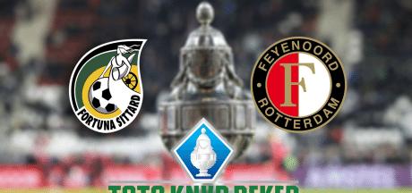 Fortuna en Feyenoord spelen restant bekerduel uit met een 1-1 stand op het bord