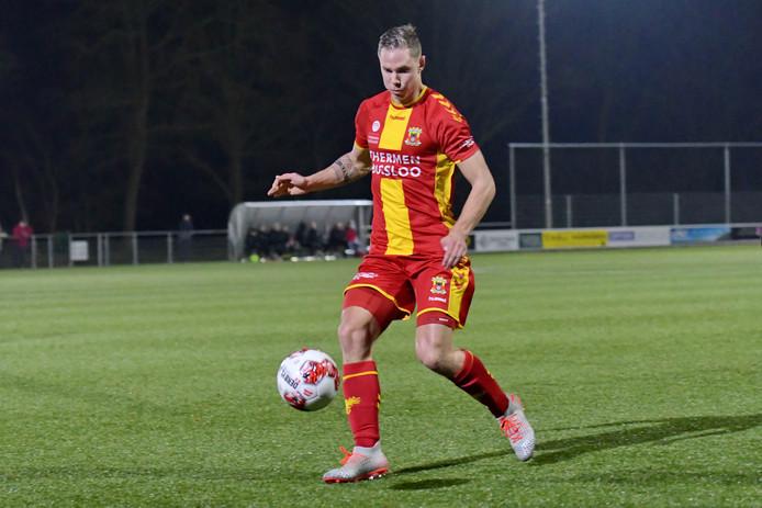 Donny van Iperen bezorgt Jong GA Eagles punt tegen Jong Heracles.
