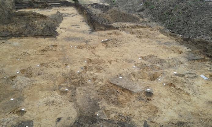 De opgravingsplek in Presikhaaf.