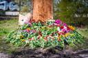 Bloemen op plek van dodelijk ongeval in Eindhoven