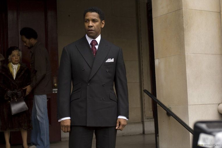 Denzel Washington in American Gangster van Ridley Scott. Beeld