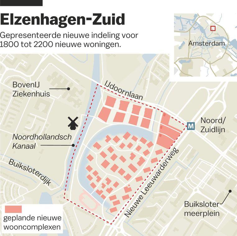 'Voor de hoogbouw langs de IJdoornlaan wordt gedacht aan twaalf tot zestien etages' Beeld Laura Van Der Bijl
