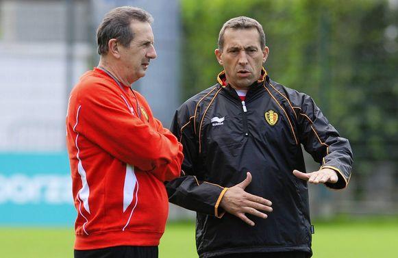 Philippe Vande Walle met Georges Leekens bij de Rode Duivels (2010).