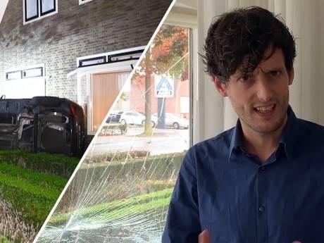 'Duiken!' riep Rende tegen zijn vrouw toen een auto hun huis in Wezep ramde