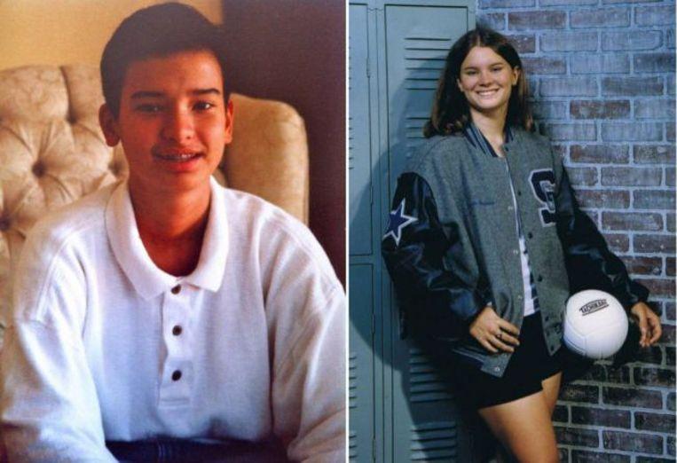 Links Bianca toen ze nog Jason was en rechts Nick toen die nog Nicole was.