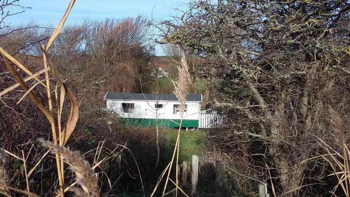 De kampeerwagen waar Beatrix verbleef.