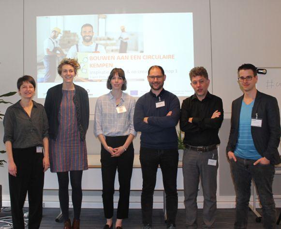 Partners Kamp C, VITO en Möbius op de eerste co-creatiesessie.
