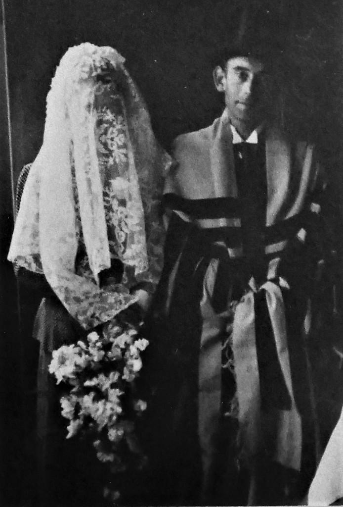 Trouwfoto van Max Heijmans en Anna Spanjaard uit 1942