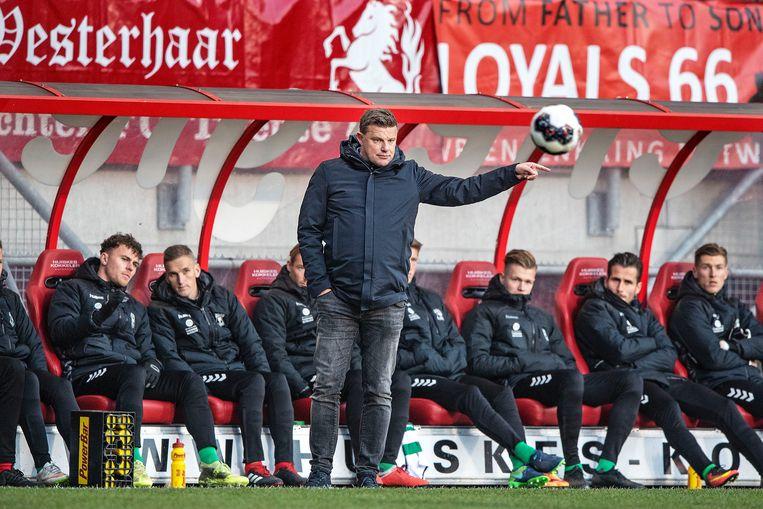 Coach John Stegeman van Go Ahead Eagles. Beeld