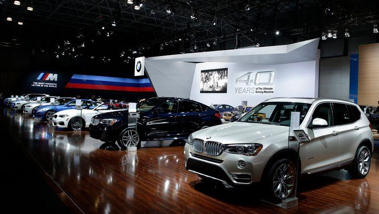 Persevenement van BMW in New York in 2015. Beeld null