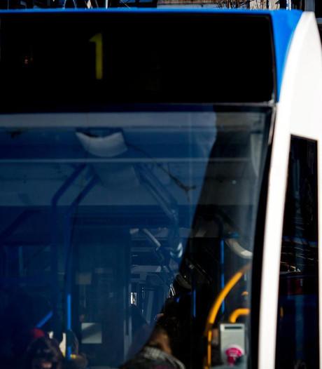 Aanrijding tram met fietser op de Stadhouderskade