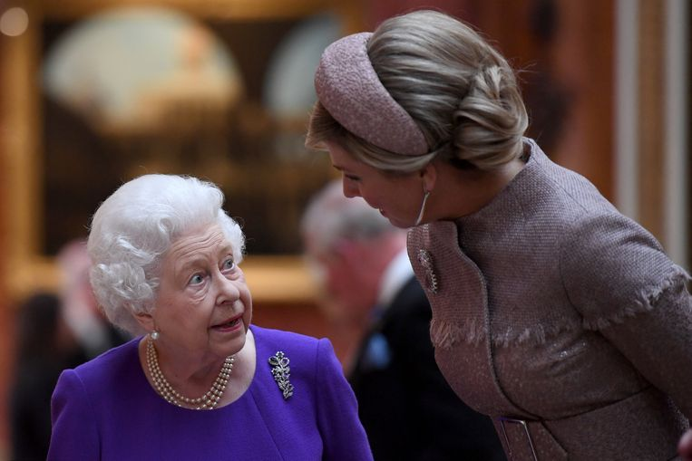 Queen Elizabeth Koningin Maxima  Beeld REUTERS