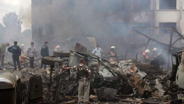 De ravage na de bomaanslag. ANP Beeld