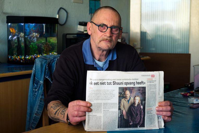 Dirk Vervoort ging eerder ook al in hongerstaking tot zijn dochter opvang had gevonden.