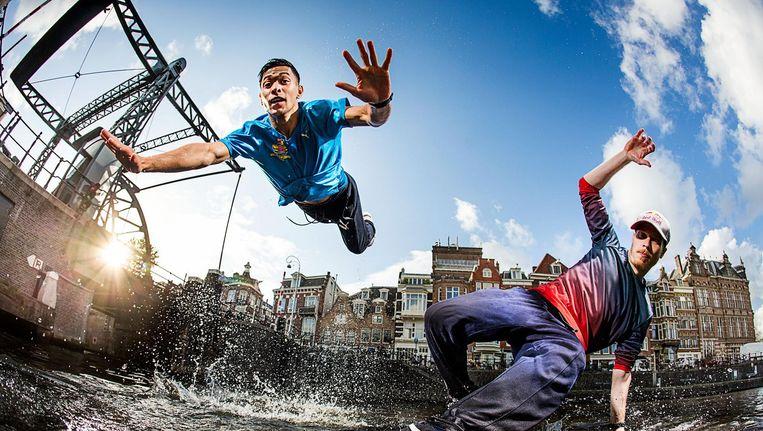Dit jaar staan er twee Nederlanders in de finale van de WK Breakdance: Menno van Gorp en Shane Boers Beeld Rutger Pauw