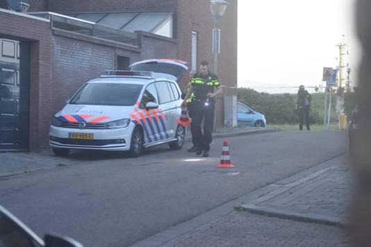Bloedsporen zet met pionnen bloedsporen af op de Burgemeester Geillstraat.