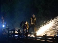 Spoorovergang bij Elten een nacht dicht met Pinksteren