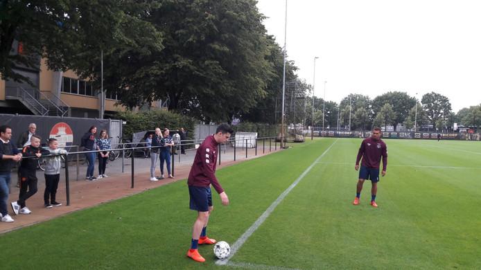 João Quierós op de training bij Willem II.
