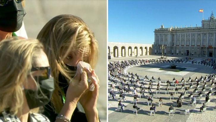Spanje herdenkt slachtoffers coronavirus