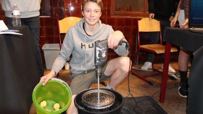 Aardappelen schillen voortaan kinderspel dankzij uitvinding Lierse scholier