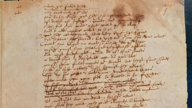 Dit is Shakespeares handgeschreven pleidooi voor vluchtelingen