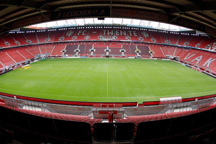 Zo leeg zal het stadion van FC Twente niet zijn als er wordt gespeeld zonder publiek.