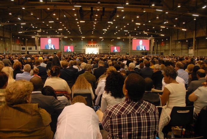 Hal 1 herbergt op de eerste dag van het driedaagse congres gelijk al circa 5000 volgelingen