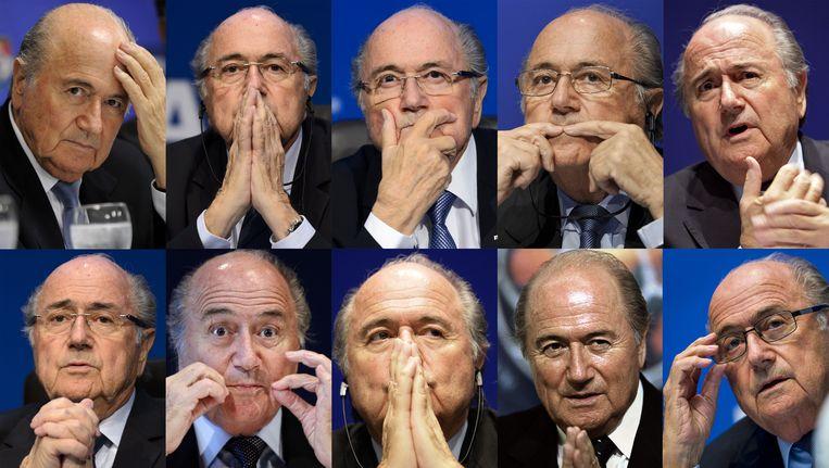 Een compilatie van foto's van Sepp Blatter.