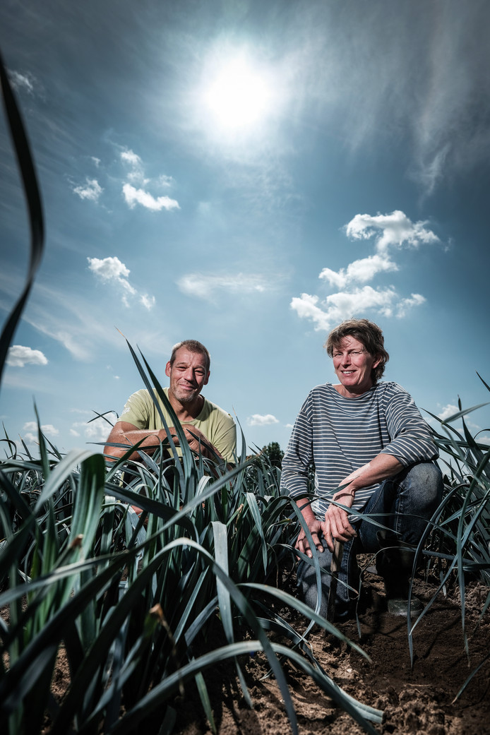 Erik Smeenk en Wilma Kraaij van tuinderij Klein Broekhuizen.