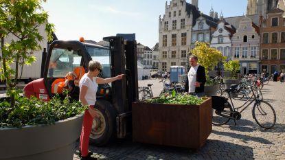 Rij bloembakken moet valpartijen op Grote Markt voorkomen