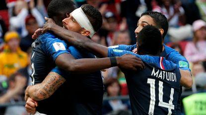 Matig Frankrijk met hulp van videoref en 'lucky goal' Pogba voorbij Australië