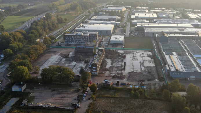 De sloop van het Lipscomplex, een paar weken geleden.