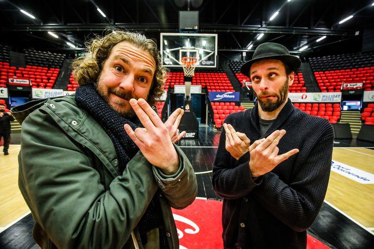 Sebastien Dewaele (links) en Tom Vanrijckeghem, alias Alain en Ook Alain, treden in februari volgend jaar op in de Versluys Dôme.