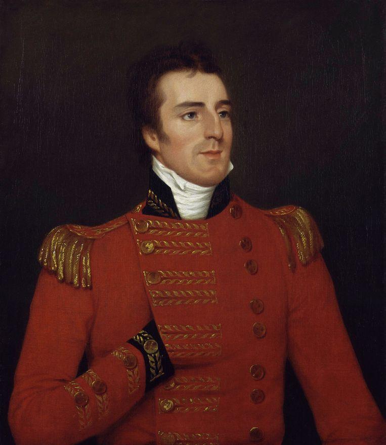 Arthur Wellesley, geschilderd door Sir Thomas Lawrence in 1814, vlak voor de Slag bij Waterloo. Beeld -