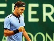 Federer staat voor de elfde keer in de finale in Halle