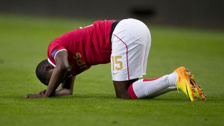 Jetro Willems viel met een blessure uit tegen Ludogorets. Beeld ap