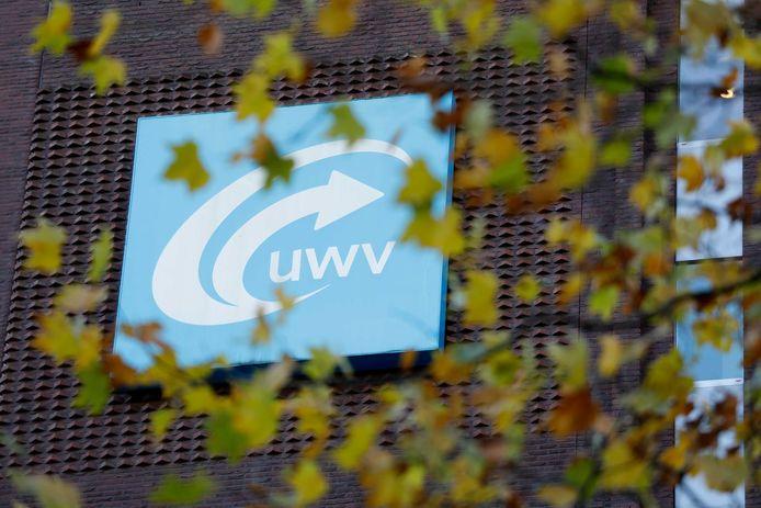 De gevel van het UWV-kantoor in Rotterdam.