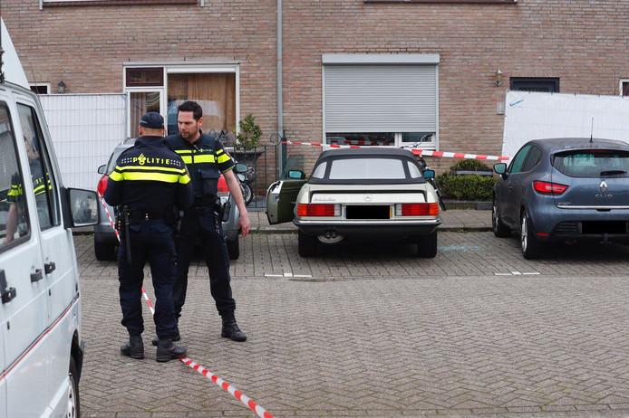 De klassieke Mercedes van Toon Sweegers stond geparkeerd op Den Bult in Strijp toen hij daar omgebracht werd in april 2018.