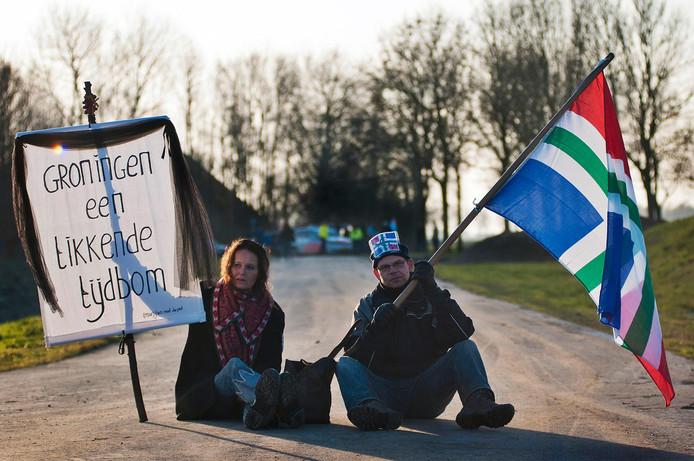 Protest tegen de gaswinning