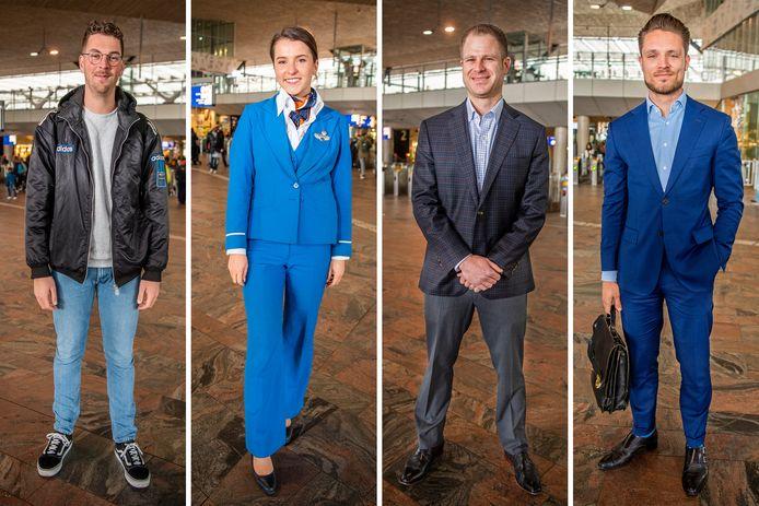 Gerbrand Bos, Belle van Rhoon, Donald Carpenter en Tobias van Veen vertellen over hun dresscodes.