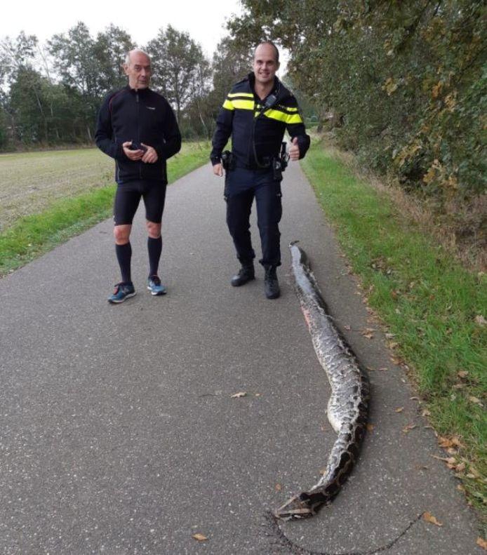 De python werd gevonden in Etten-Leur.