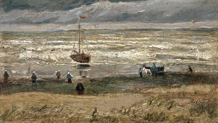 Zeegezicht bij Scheveningen (1882). Beeld Van Gogh Museum