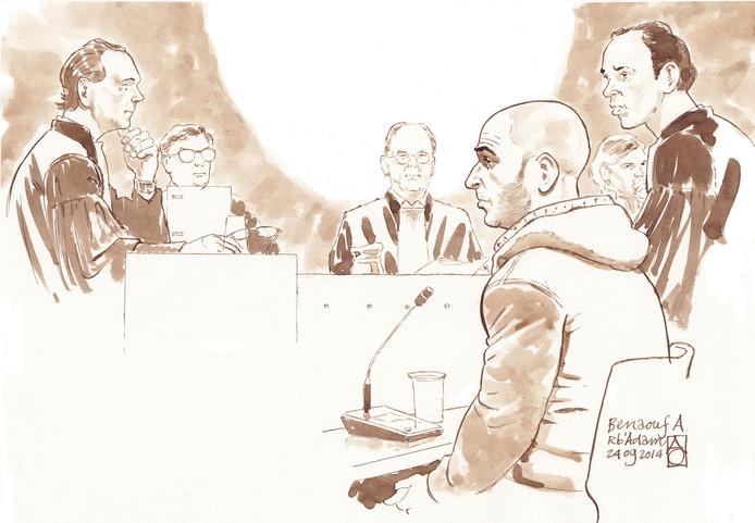 Benaouf A. tijdens een eerdere zitting