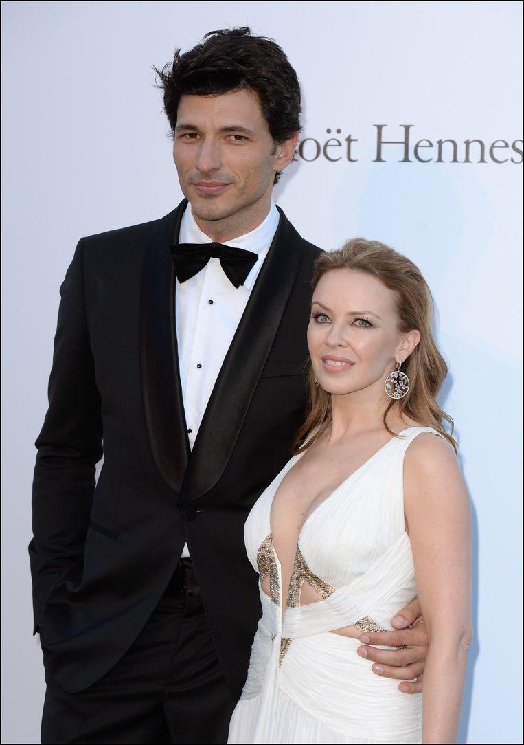 Andres Velencoso en Kylie Minogue