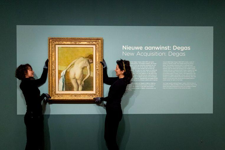 Het nieuw aangekochte werk van Degas werd in januari onthuld. Beeld ANP
