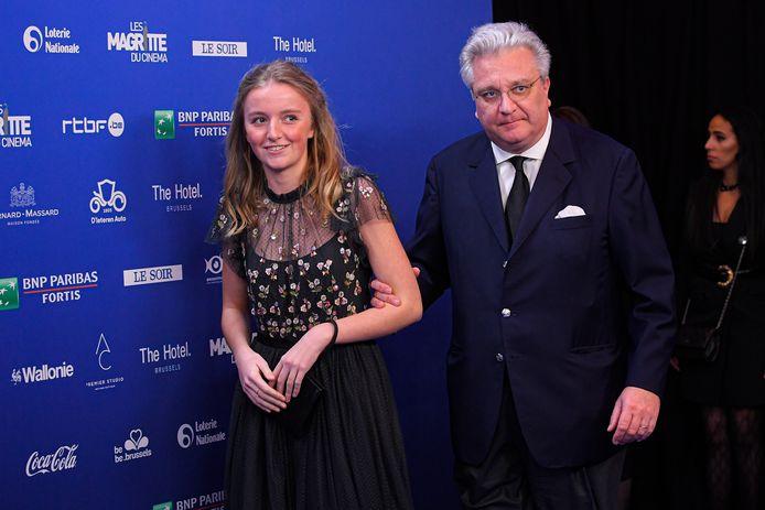 Le prince Laurent et sa fille la princesse Louise