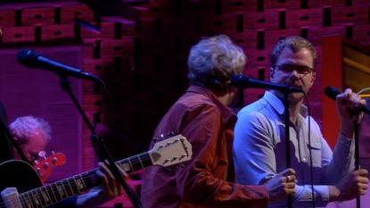 De Callboys live aan het werk met hun nieuwe muziekgroep 'Belga'