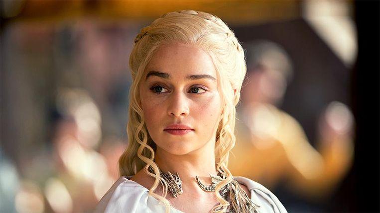 Emilia Clarke als Daenerys Targaryen in 'Game of Thrones', de populairste HBO-serie