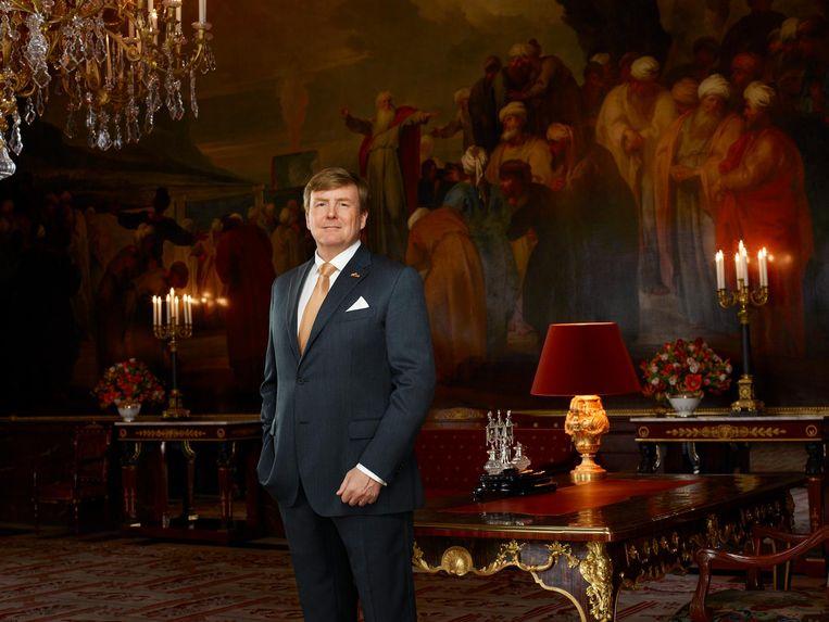 Koning Willem Alexander in de Mozeszaal. Beeld Rijksvoorlichtingsdienst